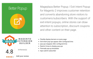 Exit Intent Popup for Magento 2 by Mageplaza
