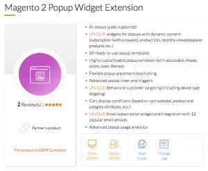 Magento 2 Popup Widget Extension by Mageworx