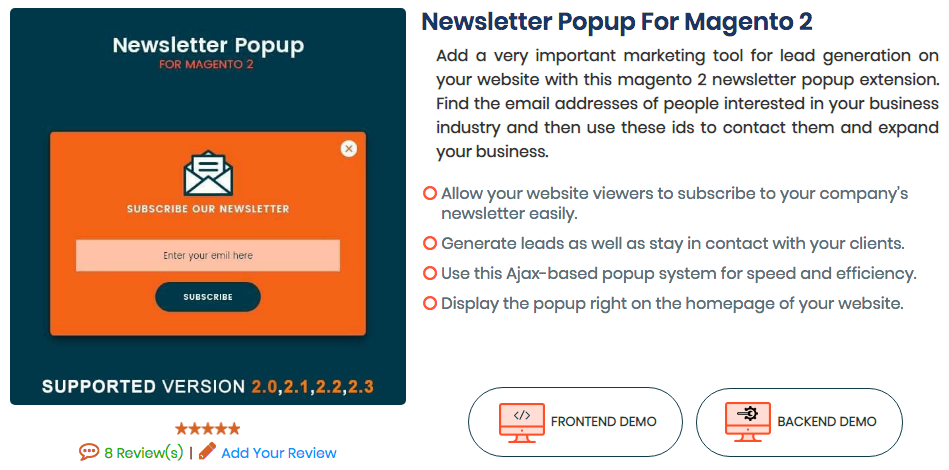 Newsletter Popup For Magento 2 by MageAnts