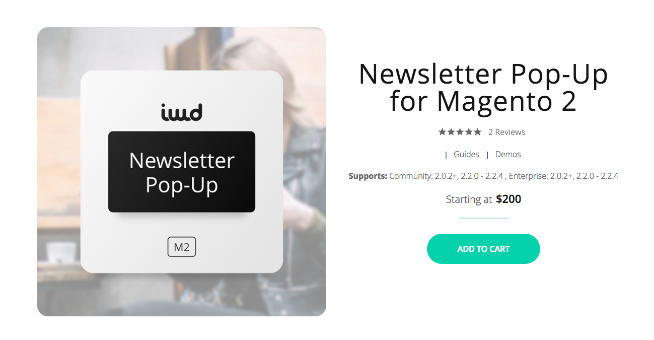 Newsletter Pop-Up for Magento 2 by IWD Agency