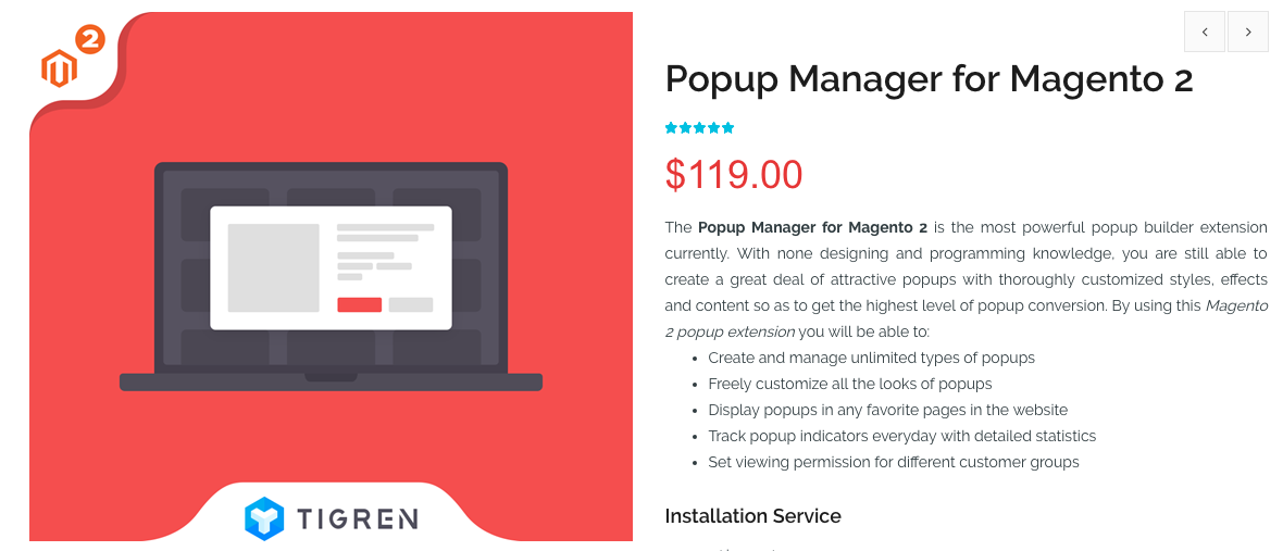 Popup Manager for Magento 2 by Tigren