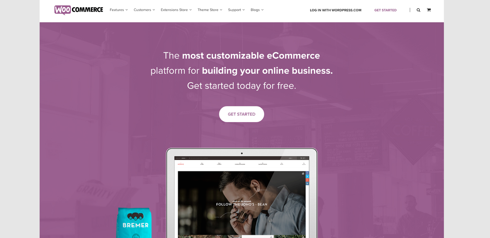 WooCommerce Website's Home Page