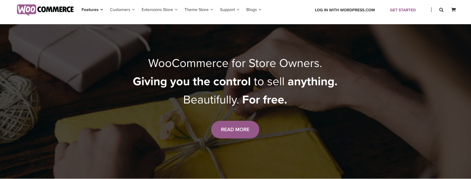WooCommerce Features List Page