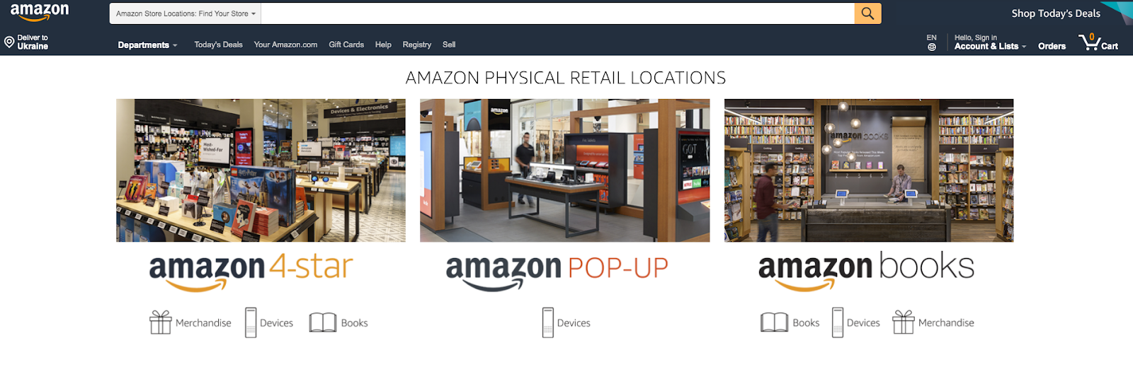 Amazon Offline Store