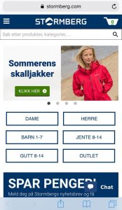 Stormberg Mobile Version - Home Page