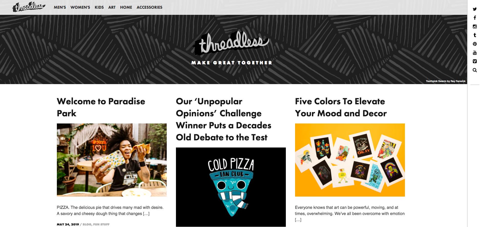 Threadless Company's Blog