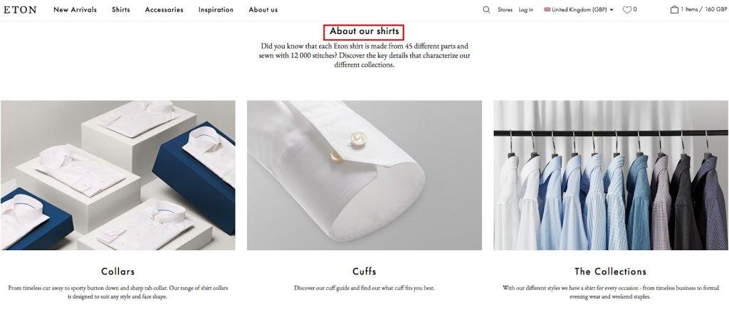 About Eton Shirts Page