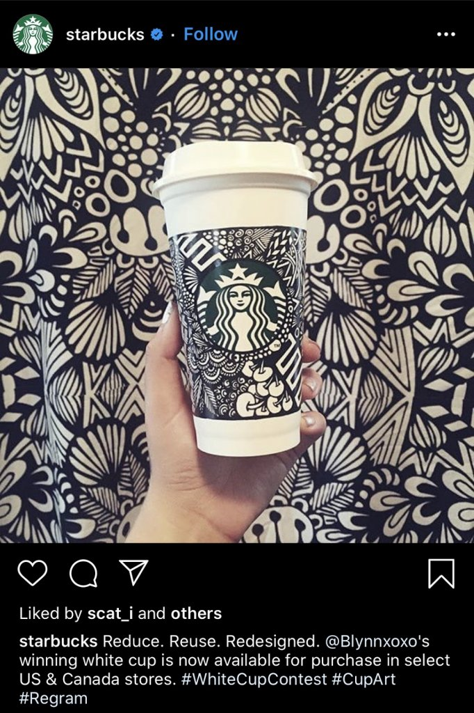 Starbucks White Cup Contest