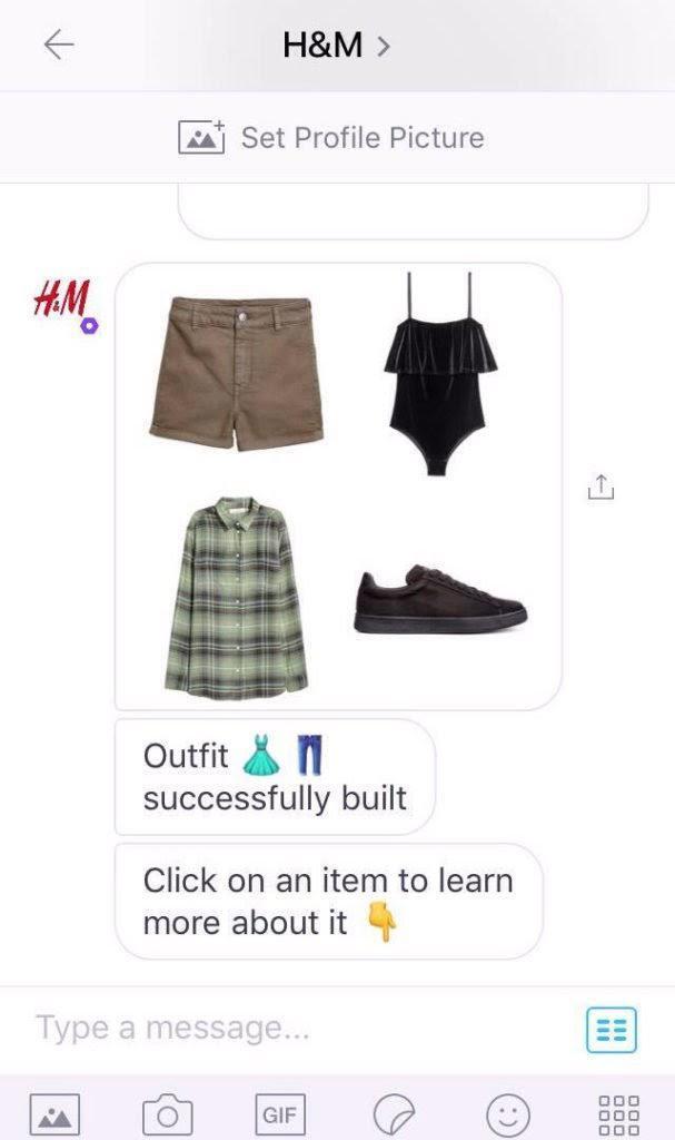 H&M's chatbot