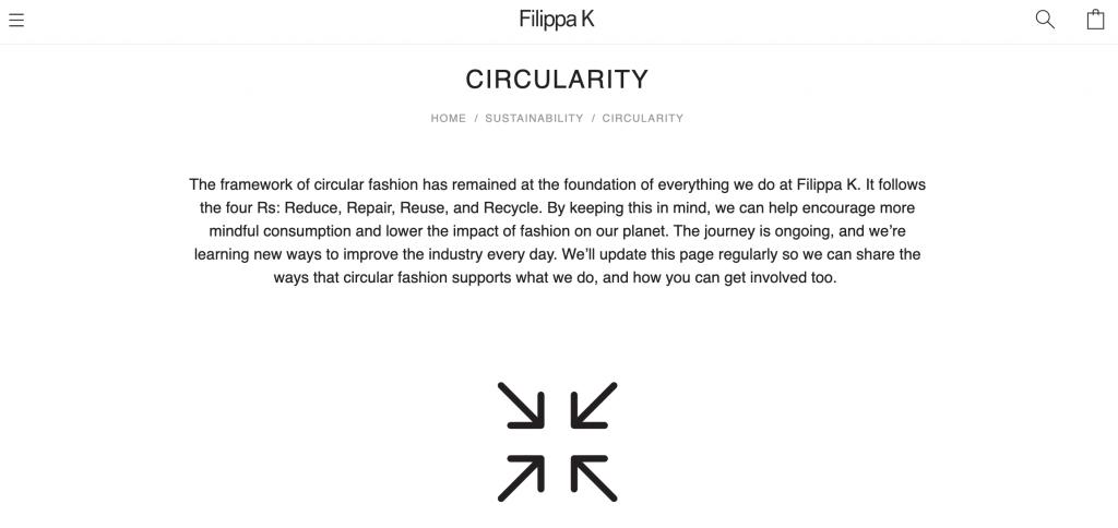 Filippa K about sustainability