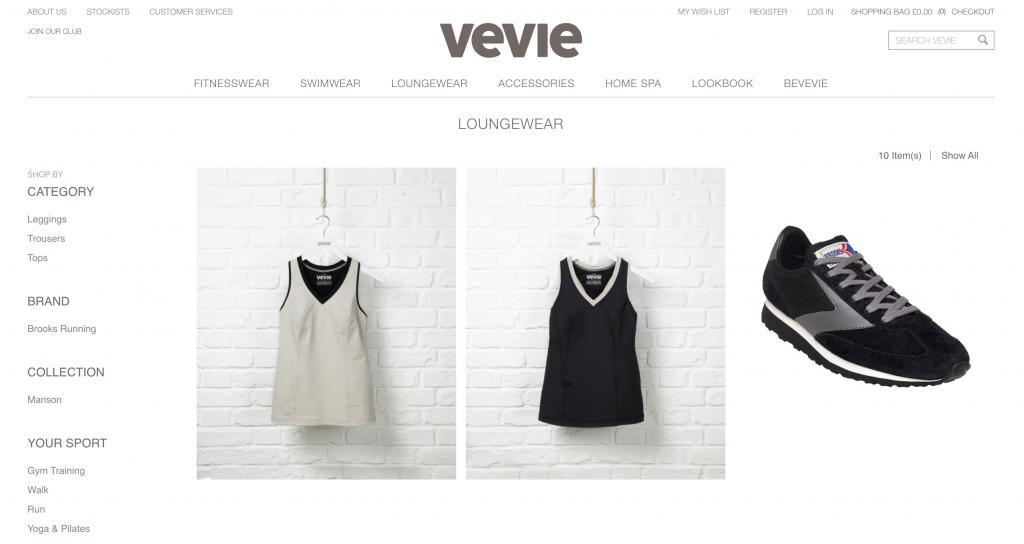 Vevie eCommerce fashion store