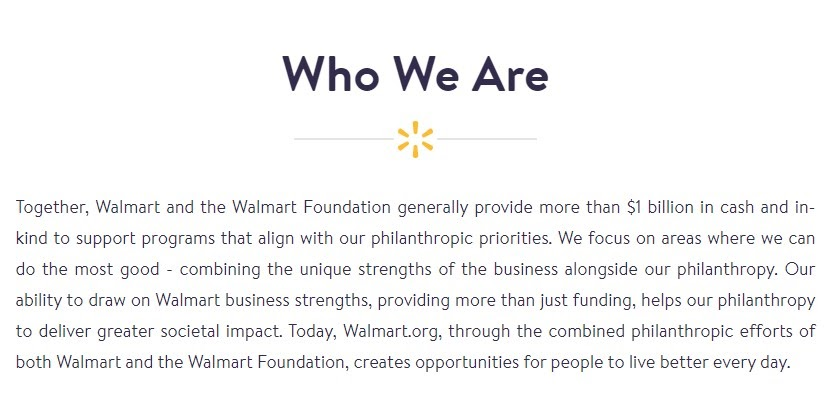 Walmart Who we are