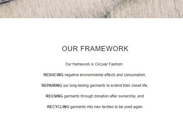 Filippa K sustainability framework
