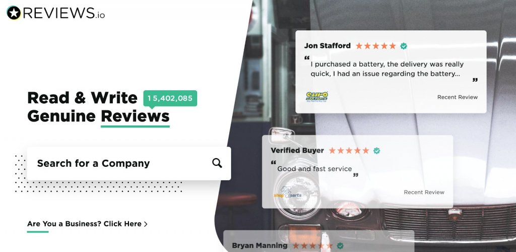 Reviews.io platform