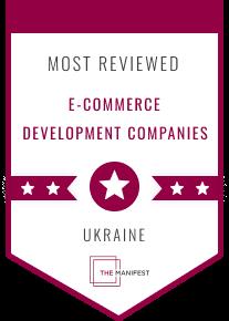 The Manifest badge of Top eCommerce development companies