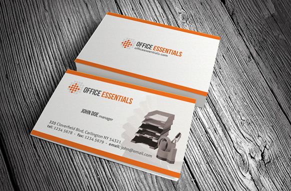 Office essentials business card psd template plr database for Business card database