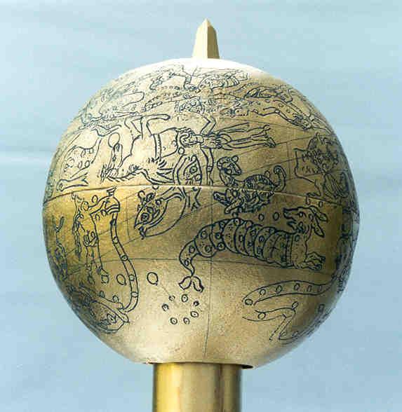 mainz globe: pegasus, andromeda, aquarius, pisces, aries, taurus, cetus, eridanus