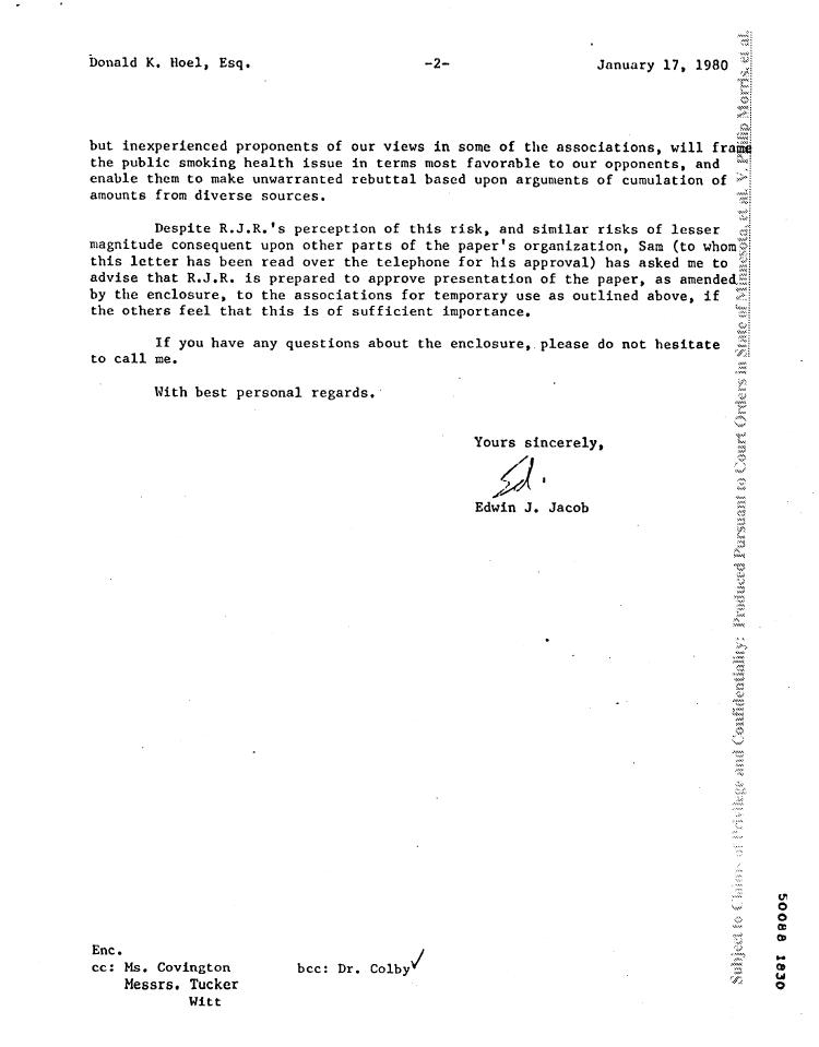 sample business letter cc