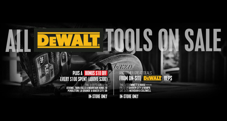 DeWalt Sale at D&B Supply