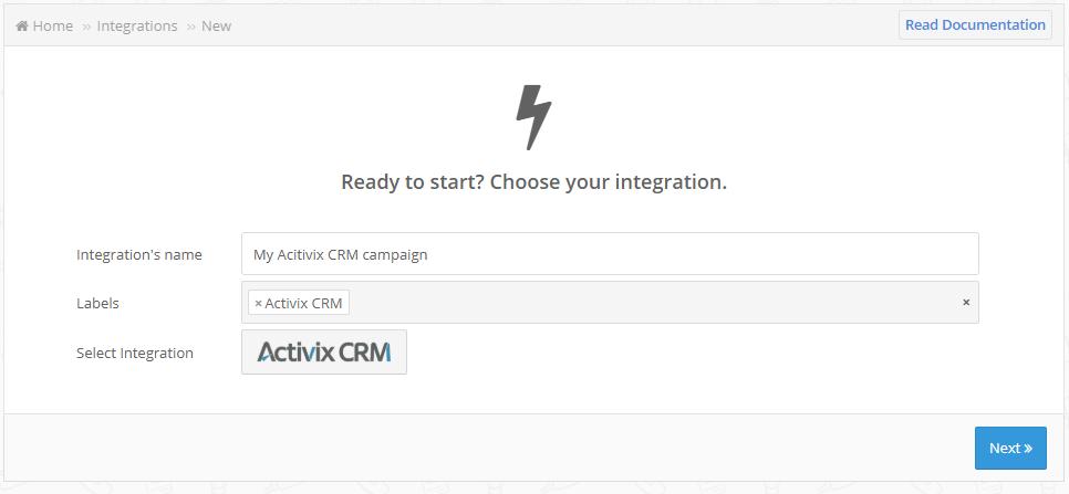 Activix CRM creation