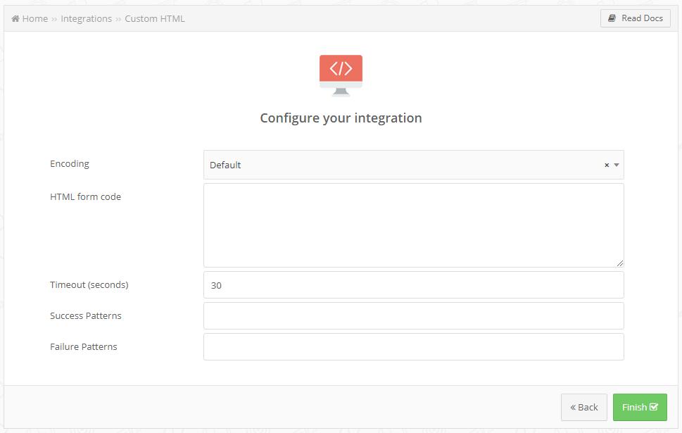 custom html creation
