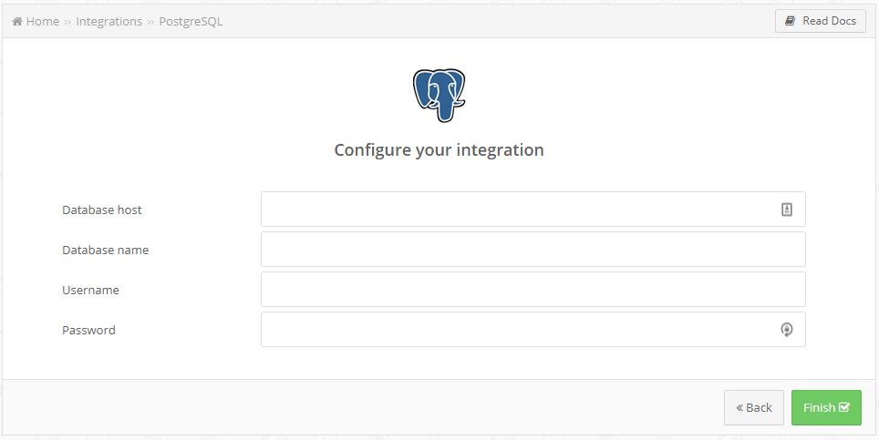 PostgreSQL creation