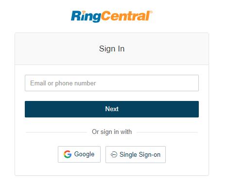 RingCentral com creation