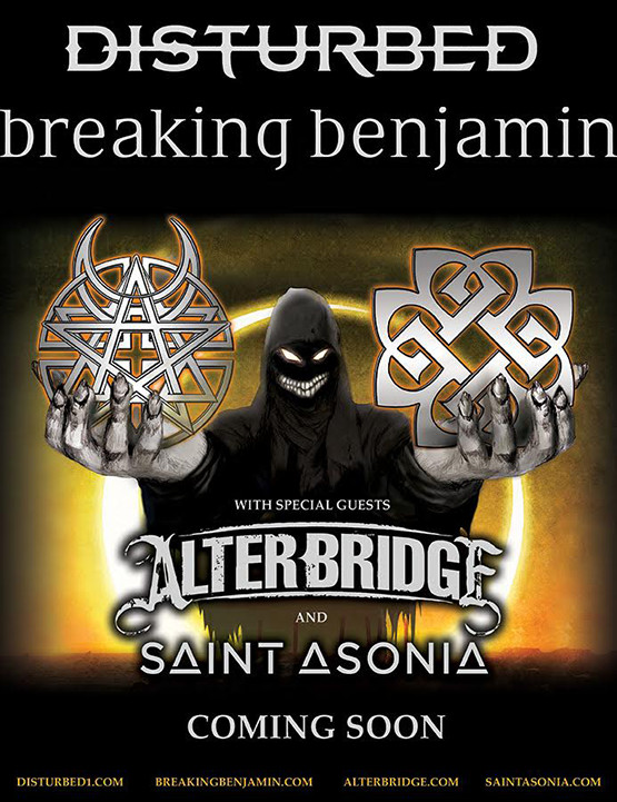 Breaking Benjamin - Disturbed Co-Headlining Tour