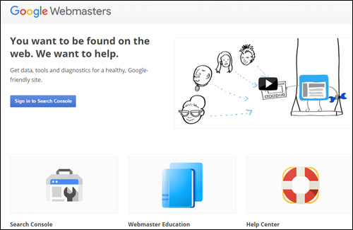 Google Webmaster Tools - create a Google-friendly website or blog