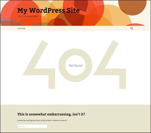 A WordPress 404 Error Page
