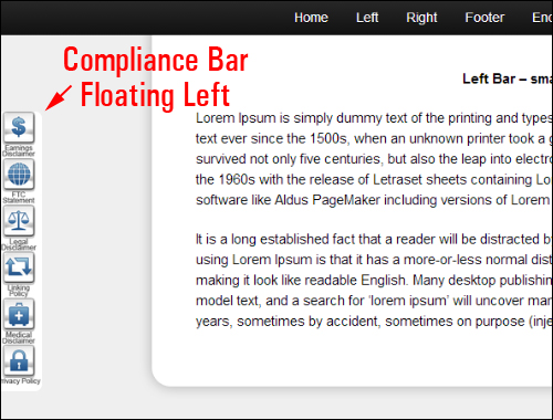 Compliance Bar - WordPress Website Compliance Plugin