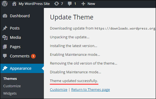 Upgrading A Theme In WordPress