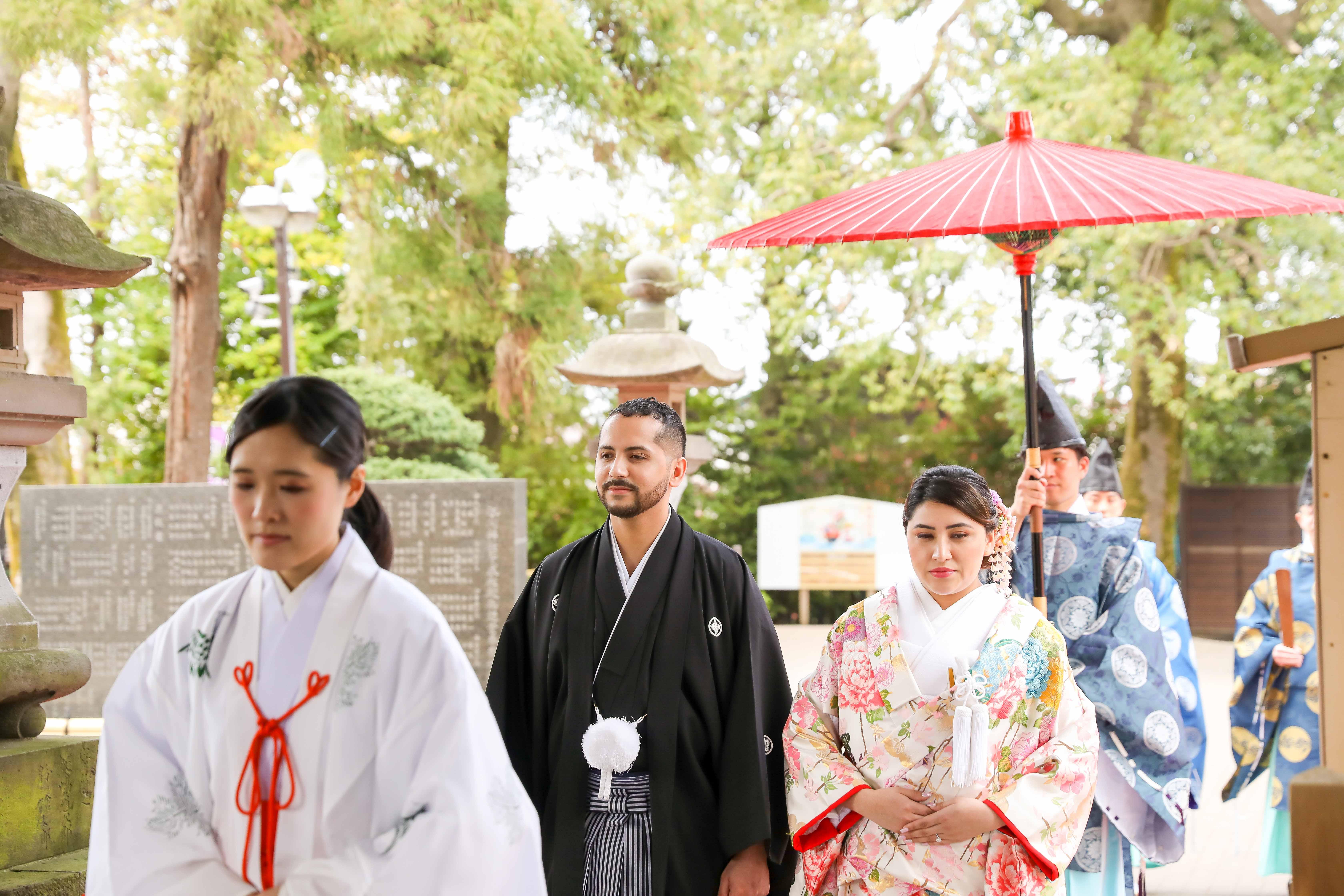 Shinto Shrine Wedding Processional