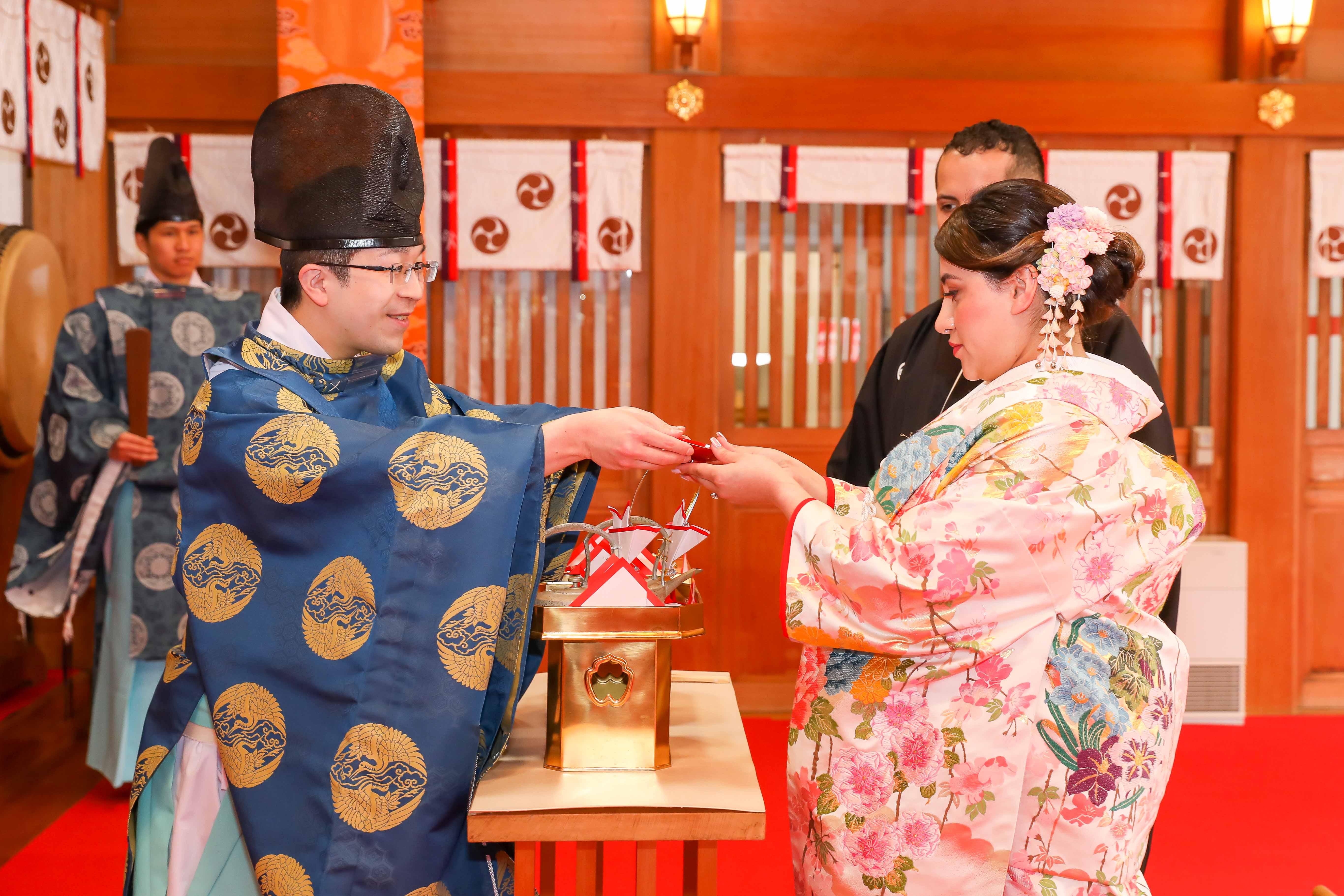 Shinto Shrine Elopement Ceremony - Sake