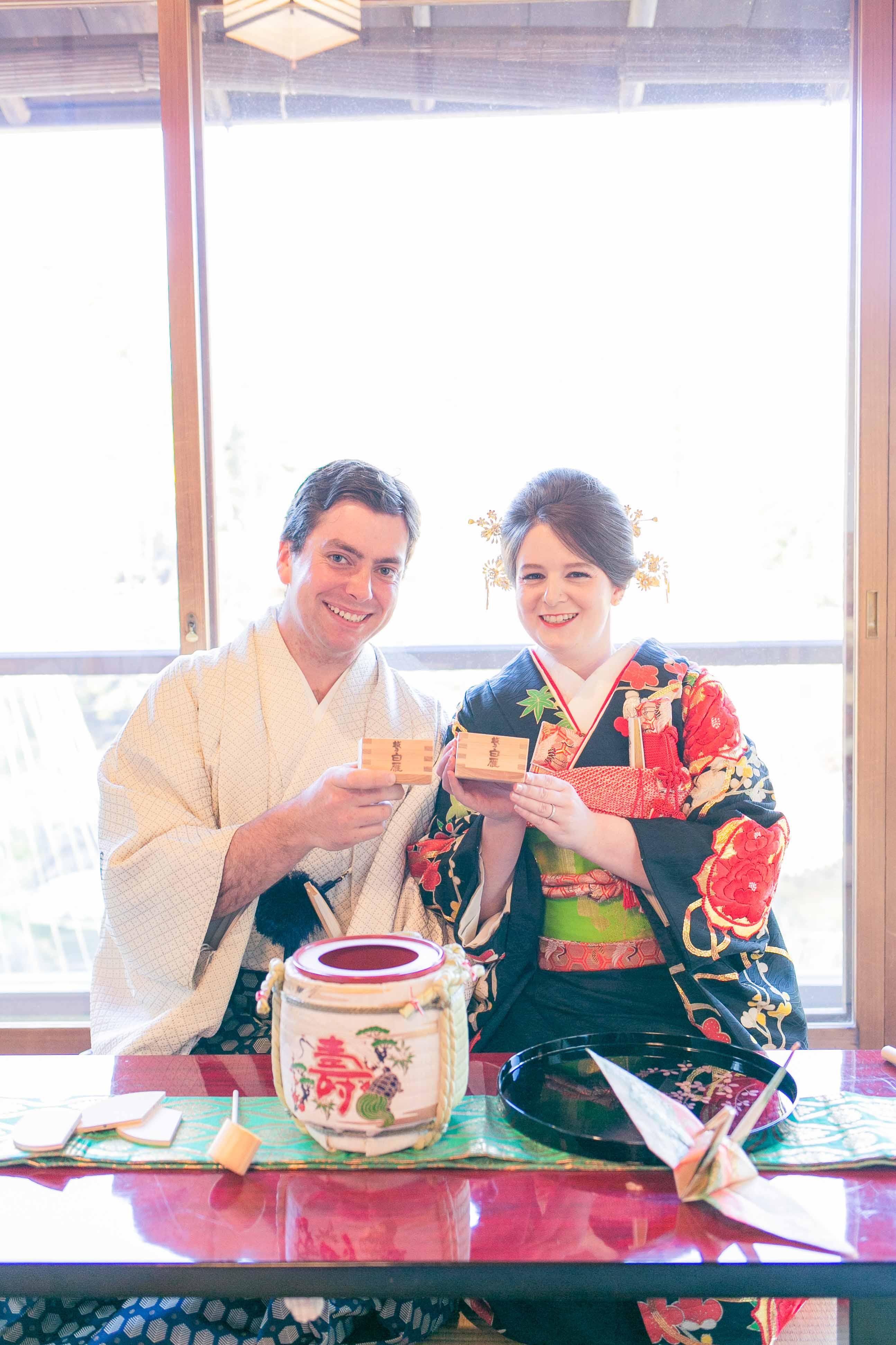 Garden Elopement - Drinking Sake