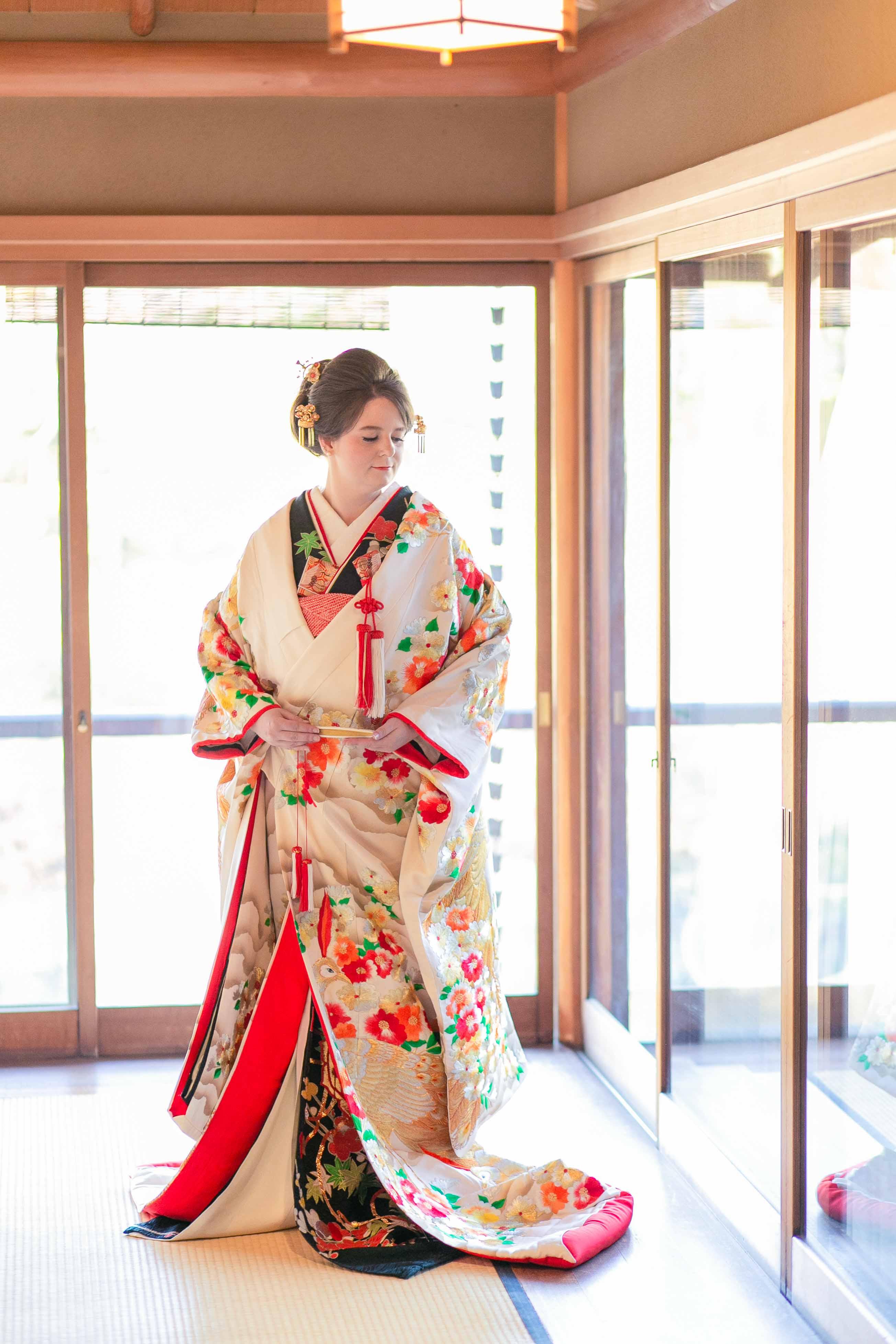 Garden Elopement - Gold Kimono
