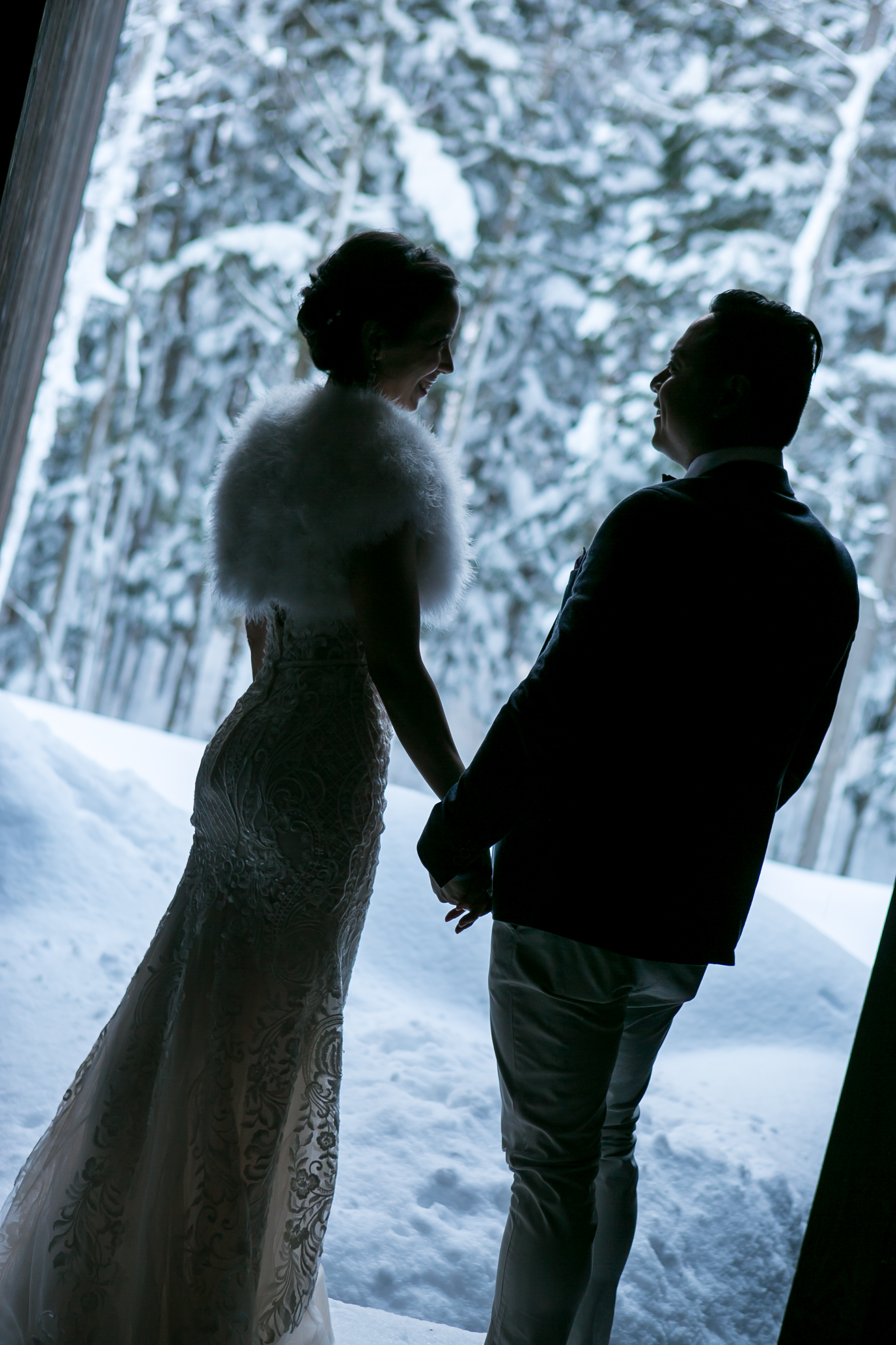 Wedding Couple in snow, Hakuba, Japan