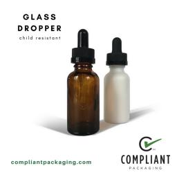 child resistant glass dropper