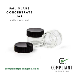 5ml glass concentrate jar