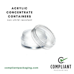acrylic concentrate containers