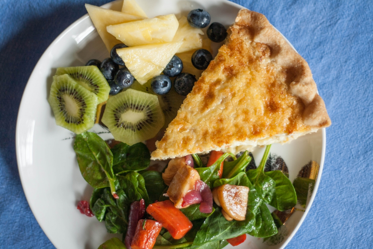 Sweet Jane's Sunday Brunch Buffet -  Gourmet Quiches, Spinach Salad, Fresh Fruit Platter