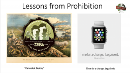 Lessons from Prohibition | Higher Ground & MJBA