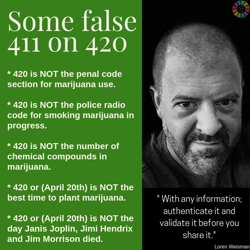 The actual 411 on 420