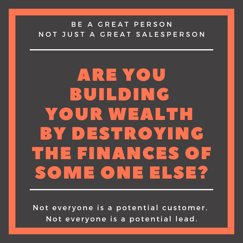 Are you building wealth, loren weisman, quote, create wealth communities, honor, customer, sales