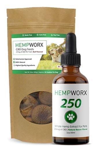 HempWorx CBD Oil Products 2018-10-24 - HempWorx 250mg CBD oil and treats for Pets