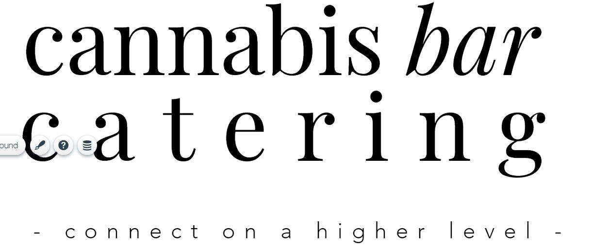 Cannabis Bar Catering - Text
