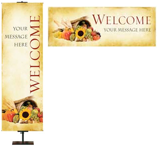 Thanksgiving Fall Season Welcome Banners