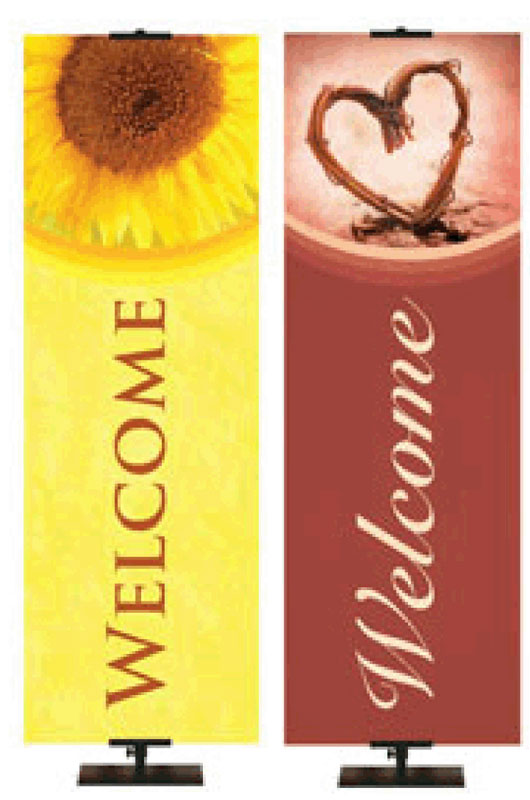 NEW! Welcome Banners Stock and Custom