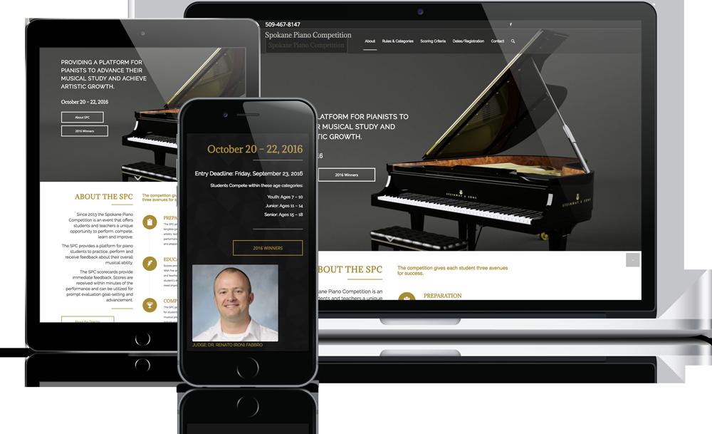 Spokane Piano Competition Mockup