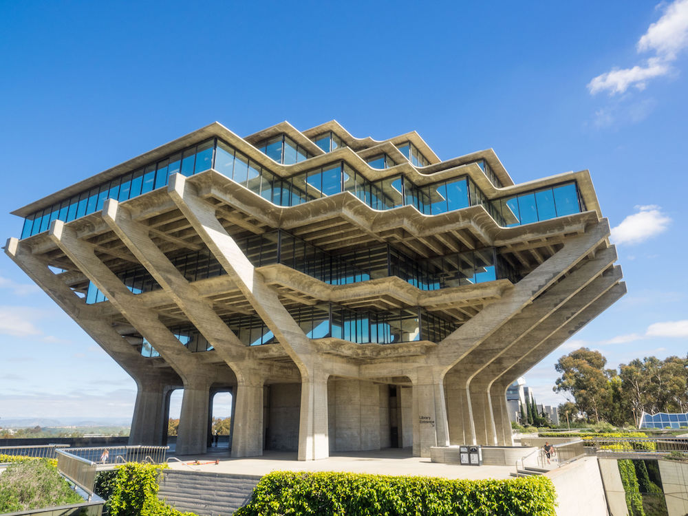 View of the Giesel Library at UCSD